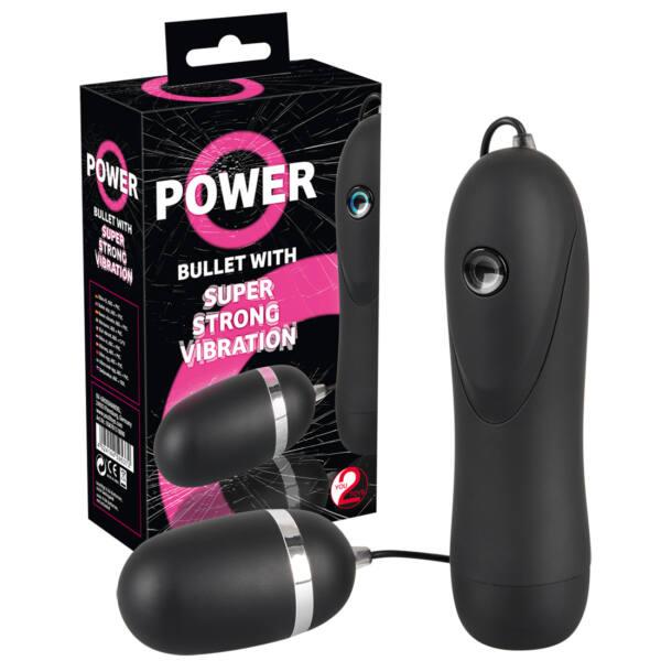 You2Toys Power Bullet – extra silne vibrujúce vajíčko  (čierne)