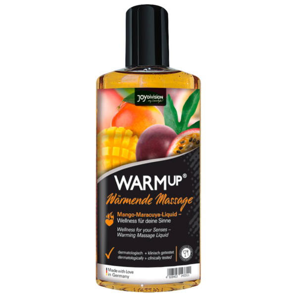 Masážny olej so zahrievacím účinkom - mango - marakuja (150 ml)