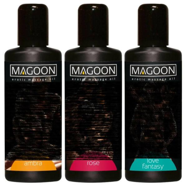 Sada masážnych olejov Magoon - 3x100ml