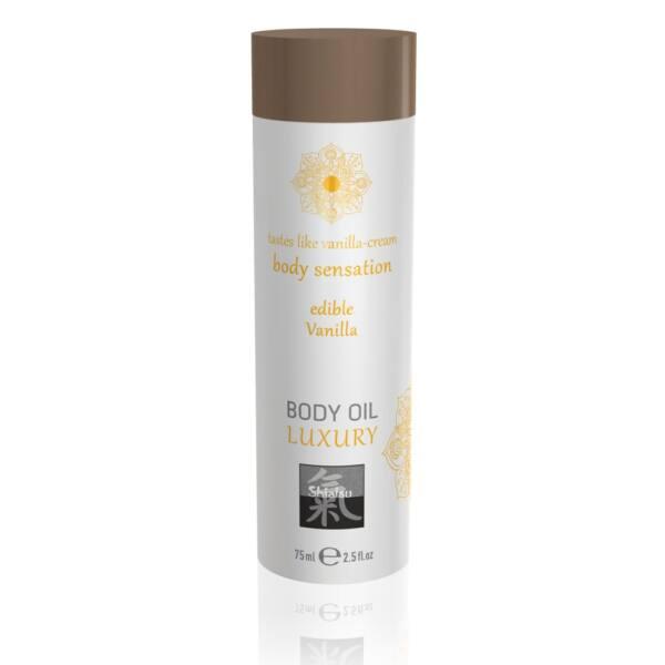 Shiatsu Luxury - Edible Massage Oil - Vanilla (75ml)