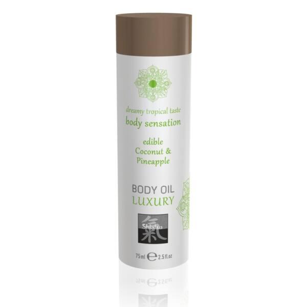 Shiatsu Luxury - Edible Massage Oil - Coconut Pineapple (75ml)
