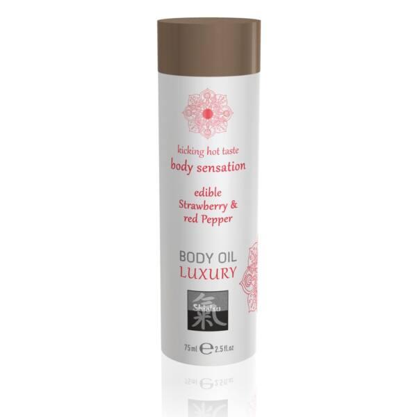 Shiatsu Luxury - Edible Massage Oil - Strawberry red Pepper (75ml)