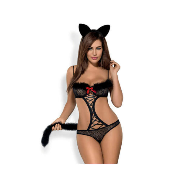 Obsessive Gepardina - Little Cat Costume Set (Black)