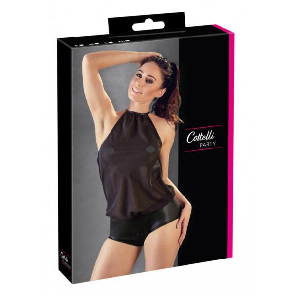 Cottelli Party - Shiny Chiffon Neckstrap Body (Black)