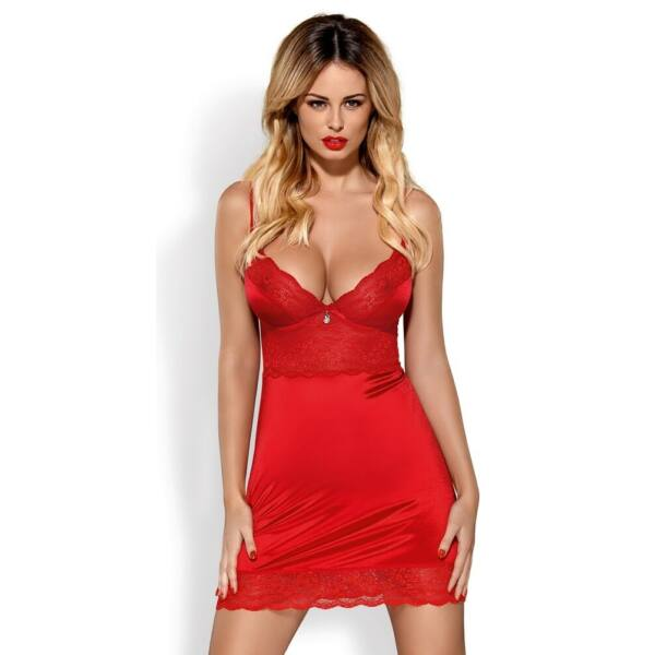 Obsessive Lovica - Lace Nightwear with Tangle (Red)