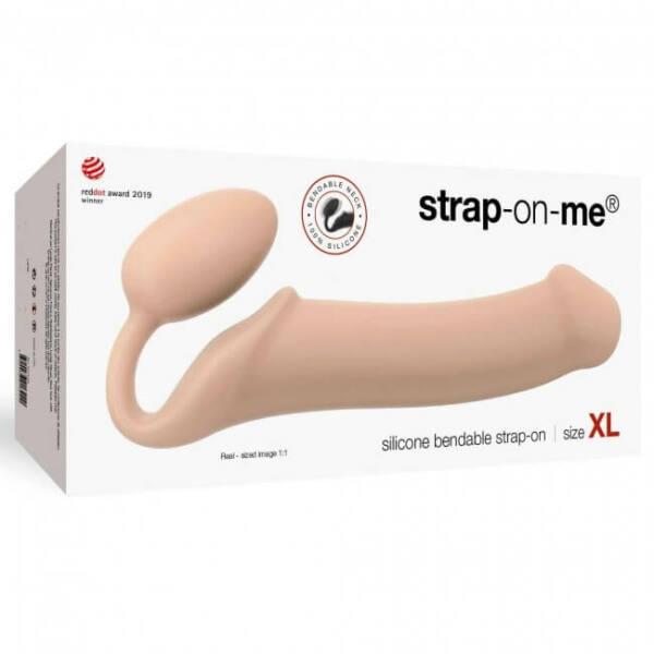 STRAP-ON BENDABLE dildo (skin color) XL