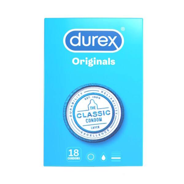 Durex klasické kondómy (18ks)