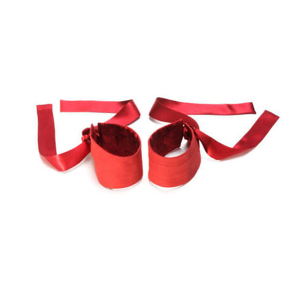 LELO - ETHEREA SILK CUFFS RED