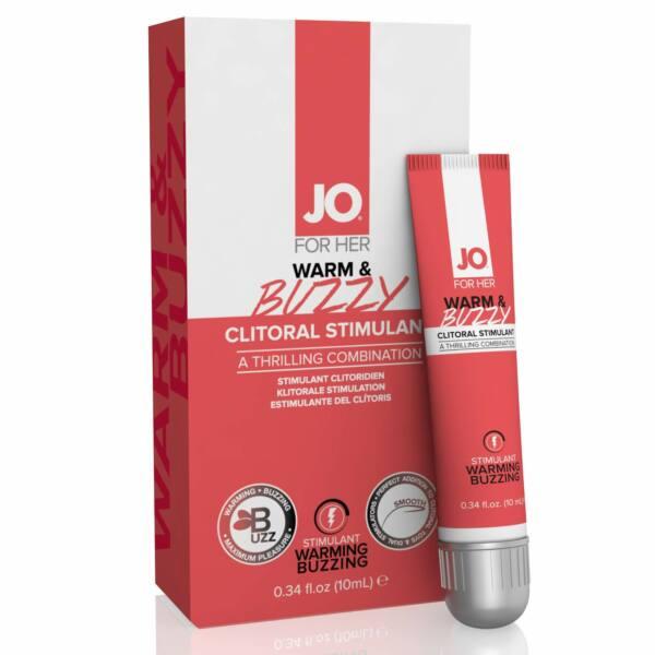 System JO Clitoral Stimulant Warming Warm & Buzzy Original - stimulačný gél pre ženy na klitoris (10ml)