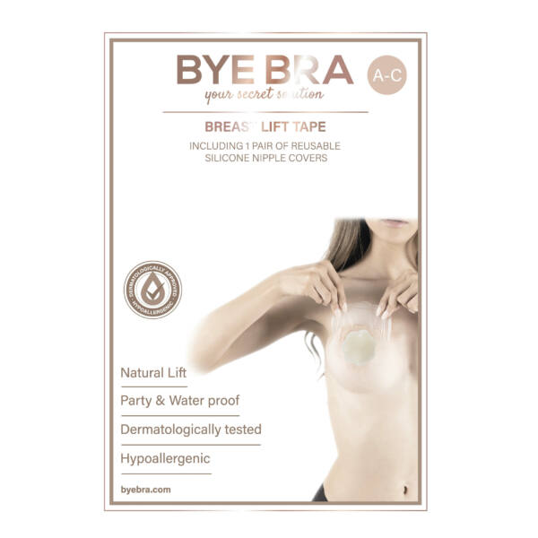 Bye Bra - Breast Lift & Silicone Nipple Covers A-C Nude 4 Pairs